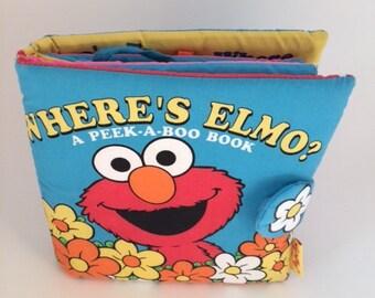 Sesame Street Get Dressed with Elmo 1999 ,Sesame Street cloth book ,sesamo street  book  ,Elmo,Sesame Street figures