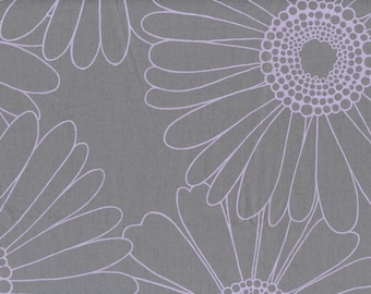 Fabric grey purple flowers Cotton Fabric House textilies Fabric Scandinavian Design Scandinavian Textile
