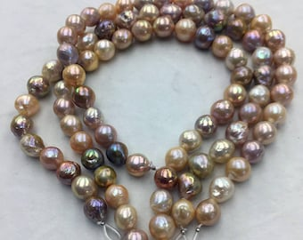 12-14mm colorful mixcolor round edsion pearls necklace
