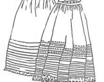 PI607 -  1800s Corded & Tucked Petticoats Sewing Pattern by Period Impressions