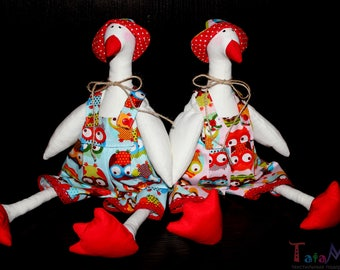 Tilda goose toy 40cm (16 inches)  Fabric Goose Home decor Easter Goose kitchen decor Interior toy Handmade Soft toy