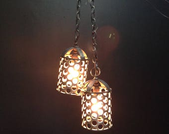 Pair of Crafted Industrial Pendant Lights