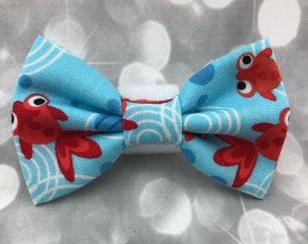 Goldfish & Bubbles Small Pet Dog Cat Bow / Bow Tie