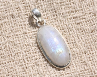 No. 19 - 925 sterling silver pendant and stone - Moonstone oval 24x12mm