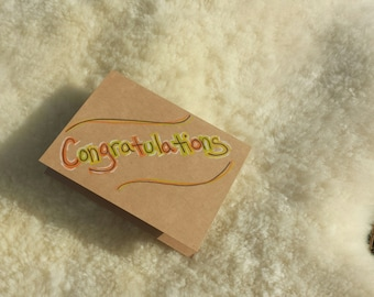 Congratulations Card // Congratulations // Congrats Card // Congratulations Baby Card // Congratulations New Job // Congratulations Wedding