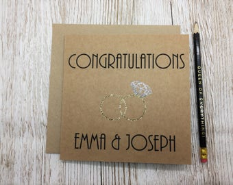 Personalised Wedding Day Card - Congratulations - Wedding Day Congratulations