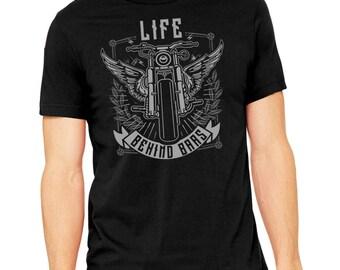 Life Behind Bars Motorcycle Shirt, Father's Day Gift, biker shirt, motorcycle gift, gift for dad, motorcycle, harley davidson