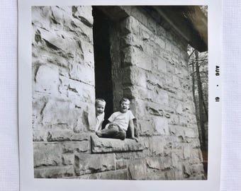 Original Vintage Photograph | Kids in the Castle | 1961