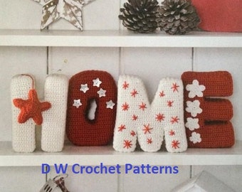 Crochet Home Letters PDF Pattern Instant Download