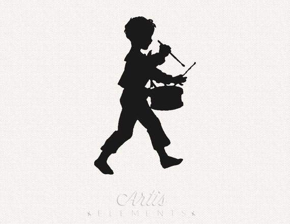 Little Drummer Boy On Parade Silhouette Download Vintage