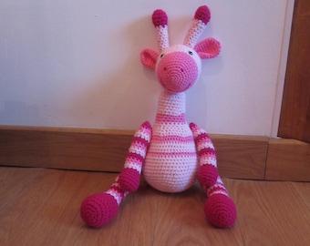 cuddly crocheted giraffe or animal