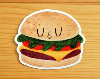 Cheeseburger Vinyl Sticker