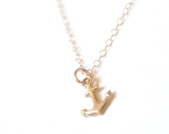 Little Anchor Necklace Gold Filled