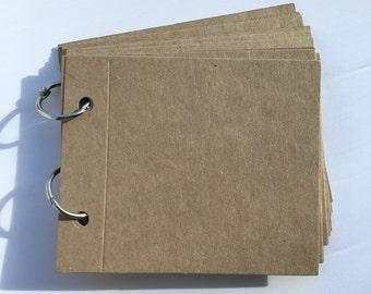 Mini junk journal, scrapbook album, memory book, bullet journal mini album midori