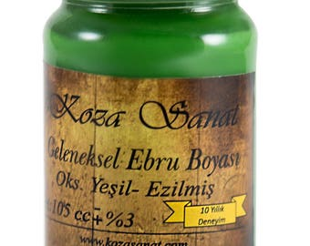 Ebru Marbling Paint Colors-Oxide Green 105cc (Koza)