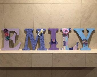 Shabby Chic Custom Name Letters
