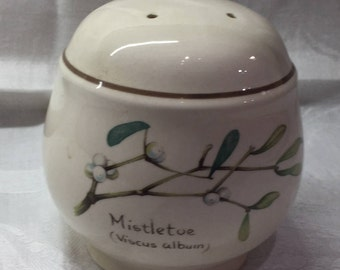 Country Diary of an Edwardian Lady Noritake Ireland salt or pepper shaker, Natural scenic tableware,