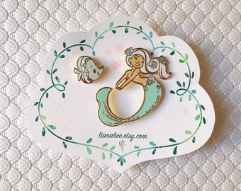 LIMITED EDITION Mint Mini Mermie pin set