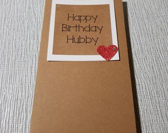 Happy Birthday Hubby.Hand crafted greeting card