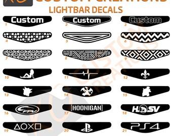 Ps4 light bar decal etsy custom playstation 4 light bar decal x1 ps4 lightbar controller stickers aloadofball Choice Image