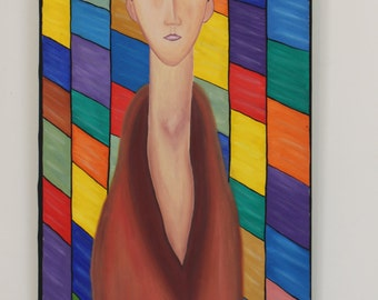 MODERN Figurative Painting. ORIGINAL OIL - Artwork by Federico Vivanco - Certificate of Authenticity included.