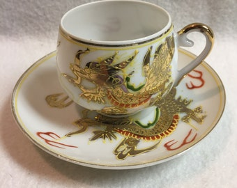 Dragonware Small Cup and Saucer (#071)