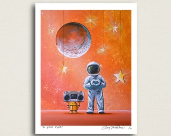 In Your Eyes - little astronaut and tiny robot - Limited Edition Signed 8x10 Semi Gloss Print (5/10)