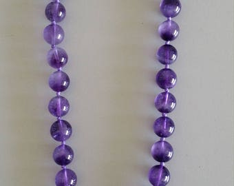 Amethyst Necklace with Baroque Pearl Feature - Gemstone of Humility and Spiritual Purification
