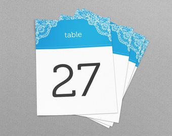 Greek Theme Lace Wedding & Event Table Numbers, Printable Table Numbers 1-30, Instant Download, Ready to print