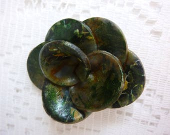 FLOWER JEWELRY, RINGS, DECO DESIGN. . GREEN SHADES