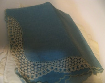 beautiful blue hanky