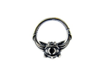 Septum ring 16g, gothic jewelry, occult jewelry, biker jewelry, biker chick jewelry, rocker jewelry, punk jewelry, harley davidson jewelry