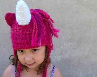 Unicorn Hat - Fairy Tale Costume Hat, Unicorn Hat for Girls, White Horn Unicorn