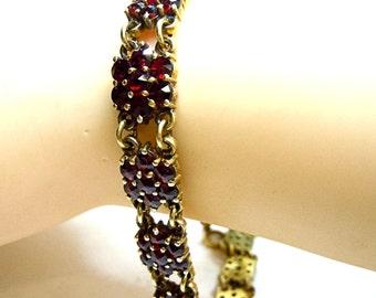 Bohemia garnet bracelet around 1880