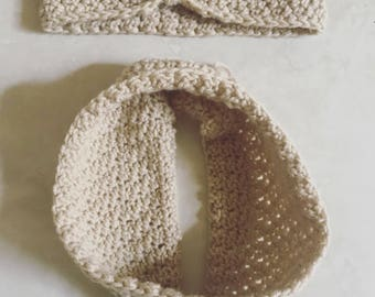 Headband and cowl set