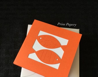 Orange Fish Mini Note Cards with Envelopes 8