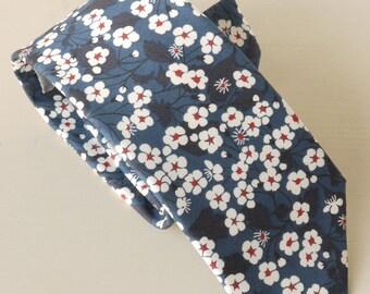 Liberty print tie - blue floral tie - navy tie - Liberty tie - mens floral tie - Liberty of London tie - Mitsi blue