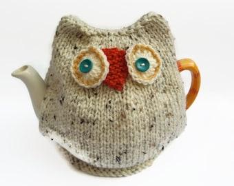 Mug cosy personalised mug cosy tea gift coffee gift snowy owl tea cozy hand knitted tea cosy dt1010fo