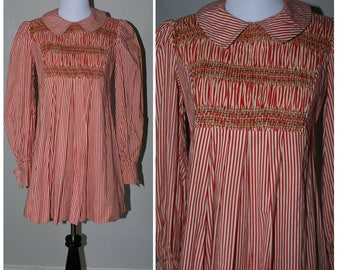 Vintage 1970s French Striped Dress.