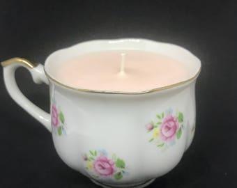 Gardenia Vintage Tea Cup Candle