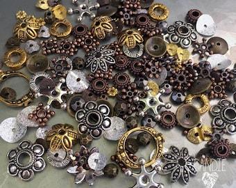 Mixed Metal Spacer Bead Assortment - DIY JEWELRY