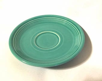 Homer Laughlin FIESTA Stoneware Saucer 2000 OOC Turquoise Fiestaware USA