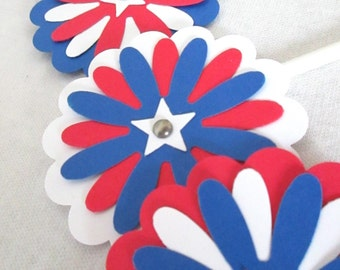 4th of July Cupcake Topper Fourth of July Favor Bag Toppers July 4th Party Favors 4th of July Decoration Fourth of July Stars and Stripes