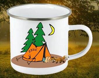 Enamel mug, Camping mug, Camper's gift