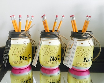 Teacher Mason Jar - Teacher Gift - Teacher Appreciation - Pencil Holder - Back to School Teacher Gift - End of Year Teacher Gift