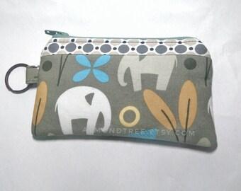 elephant key ring zip coin purse portefeuille, women wallet, portemonnaie cardholder id180406, money change travel organizer
