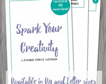 Spark Your Creativity -- Printable Creative Workbook Instant Digital Download