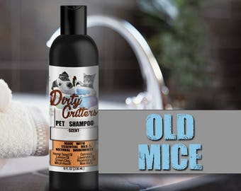 Old Mice Herbal Pet Dog Cat Shampoo Wash Dirty Critters 8 ounce bottle