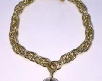BG Authentic 0.15 Cent Bahamian Coin Charm Bracelet.