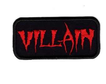 Villain Patch Red Villain Military Morale Iron to Sew on Patch Badge